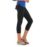 Go Colors-black-ladies 3/4 Leggings