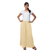 Go Colors-light Beige-flared Palazzo