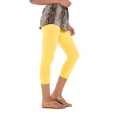 Go Colors-bright Yellow - Ladies 3/4 Leggings