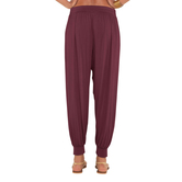 Go Colors-maroon-harem Pants