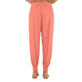 Go Colors-light Coral-harem Pants