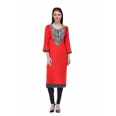 Red Reon Kurti With ...