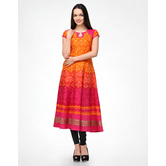 Anarkali Orange Kurt...