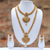 Craftsvilla Multi Color Papular Necklace Set On Craftsvilla
