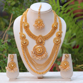 Craftsvilla White Stone And Pearls Haram Necklace Set