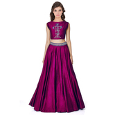 Kmozi Purple Lengha ...