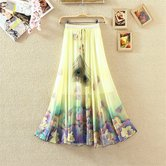 Styletagz Crepe Multi Color Digital Printed Women\'s Wear Stiched Skirt Bc-1
