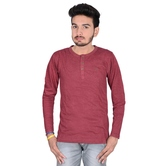 Solid Men\'s Round Full Sleeves T-shirt.