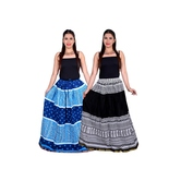 Decot\'s Cotton Long Skirt Combo (set Of 2)