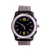 Wonder Black Dial Black Leather Strap Analog Wrist Watch For Men/boys