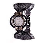 Wonder Round  Design Metal Fancy Strap Womens Quartz Watch For Woman