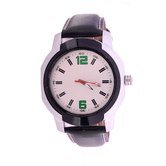Wonder White Dial Tan Leather Strap Analog Wrist Watch For Men/boys