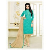 Zaparia Straight 171casul Eqva Green Cotton Suits