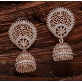 Alankruthi Royal Exclusive Rose Gold Fashion Jumkas