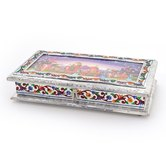 Decorative White Metal 3 Partitions Dryfruit Box 302