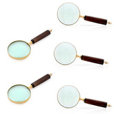 Wholesale Lot Of 5 Functional Real Brass Antique Magnifying Glasses