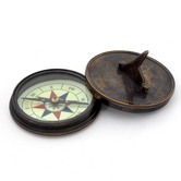 Antique Stylish Real Brass Sun Dial Compass 239