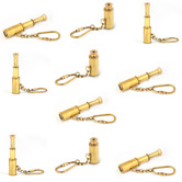 Wholesale Lot Of 10 Pure Brass Handcrafted Useful Telescope Key Chains