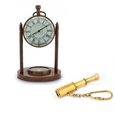 Buy Clock Compass N Get Telescope Key Chain Free