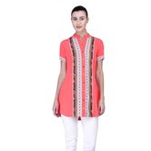 Laabha Women Summer Tunic With Prints On Front And Trims
