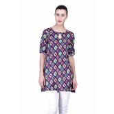 Laabha Women Summer Tunic With All Over Geometric Print