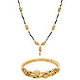 The Luxor Gold Plated Managalsutra & Bangle Set Combo-2551-2.6