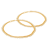 Craftsvilla  Gold Plated Pearls Studded Pair Of Anklets Ak-5049