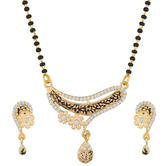 The Luxor Gold Plated Regular Wear Australian Diamond Studded Mangalsutra Set Ms-1400