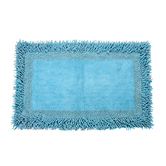 Homefurry Blue Furry Style Bath Mat