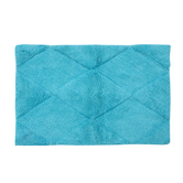 Homefurry Blue Rhumbus Bath Mat