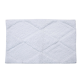 Homefurry White Rhumbus Bath Mat