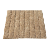 Homefurry Beige Bathe Stripes Bath Mat