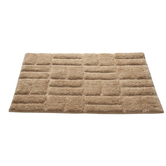 Homefurry Beige Jigjag Bath Mat