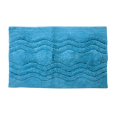 Homefurry Blue Hexa Wave Bath Mat