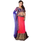 Pink Net Designer Lehenga With Heavy Blouse