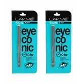 Lakme Eyeconic Kajal, Black,pack Of 2 Kajal 0.35g