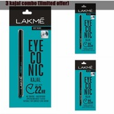 Lakme Eyeconic Kajal, Black, 0.35g Pack Of 3