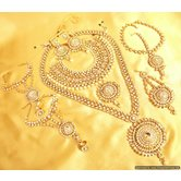 Kundan  And  Zircon Pearl Bridal Necklace Set