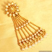 Kundan  And  Pearl Gold Look Bridal Passa