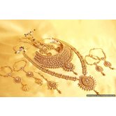 Gold Look Kundan Polki Bridal Necklace Set