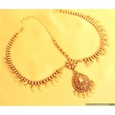 Antique Gold Look Polki Mathapatti