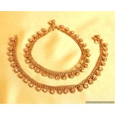 Antique Look Polki Fine Anklets