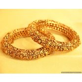 Antique Gold Look Carved Bangles