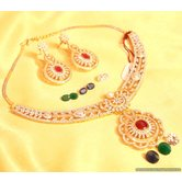 Diamond Look Changeable Necklace Set