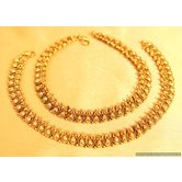 Antique Gold Look Fine Polki Anklets