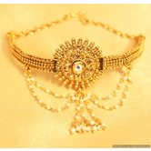 Gold Look Kundan  And  Pearl Bajuband