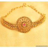 Antique Gold Look Ruby Polki Bajuband