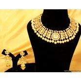 Pearl White Kundan Necklace Sets