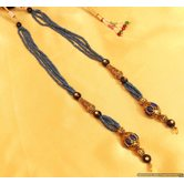 Blue Antique Beads Necklace/pendant  String