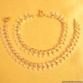 Gold Look Zircon Anklets